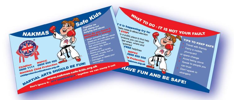 NAKMAS Safe Kids Campaign Image of card