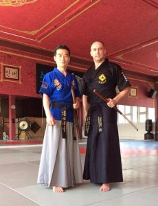 Master Harry training with Master Lee in Switzerland in 2014